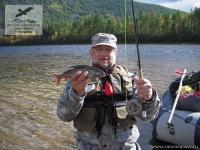 Рыбалка на хариуса на реке Мая в Хабаровском крае