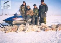 Охота со снегохода на волков в Саратовской области