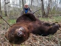 Охота на медведя на Енисее