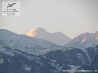 Гора Казбек - самый восточный пятитысячник Кавказа