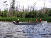 Лодка на реке Анюй, Хабаровский край