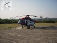 Вертолёт на Шантарских островах