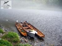 Лодки на реке Анюй, Хабаровский край