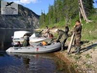 Лодки на реке Тикко, Якутия
