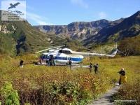 """Вертолёт в """"Долине гейзеров"""" на Камчатке"""