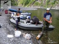 Лодки на реке Анюй